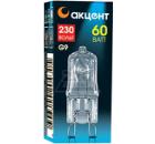 Лампа галогенная АКЦЕНТ JCD 230В  60W G9 CL капсульная прозрачная