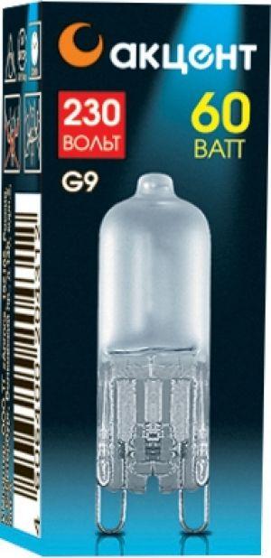 Лампа галогенная АКЦЕНТ Jcd 230В  60w g9 fr капсульная матовая лампа галогенная акцент jc 12в 20w g4 капсульная прозрачная