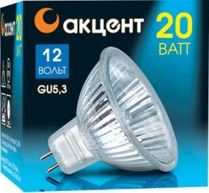 Лампа галогенная АКЦЕНТ Mr16 12В  20w 36° gu5.3 с отражателем и защитным стеклом rb6132 36 0m4 inductor mr li
