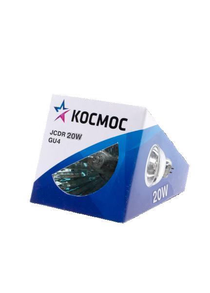 Лампа галогенная КОСМОС Jcdr 12В/20Вт gu4
