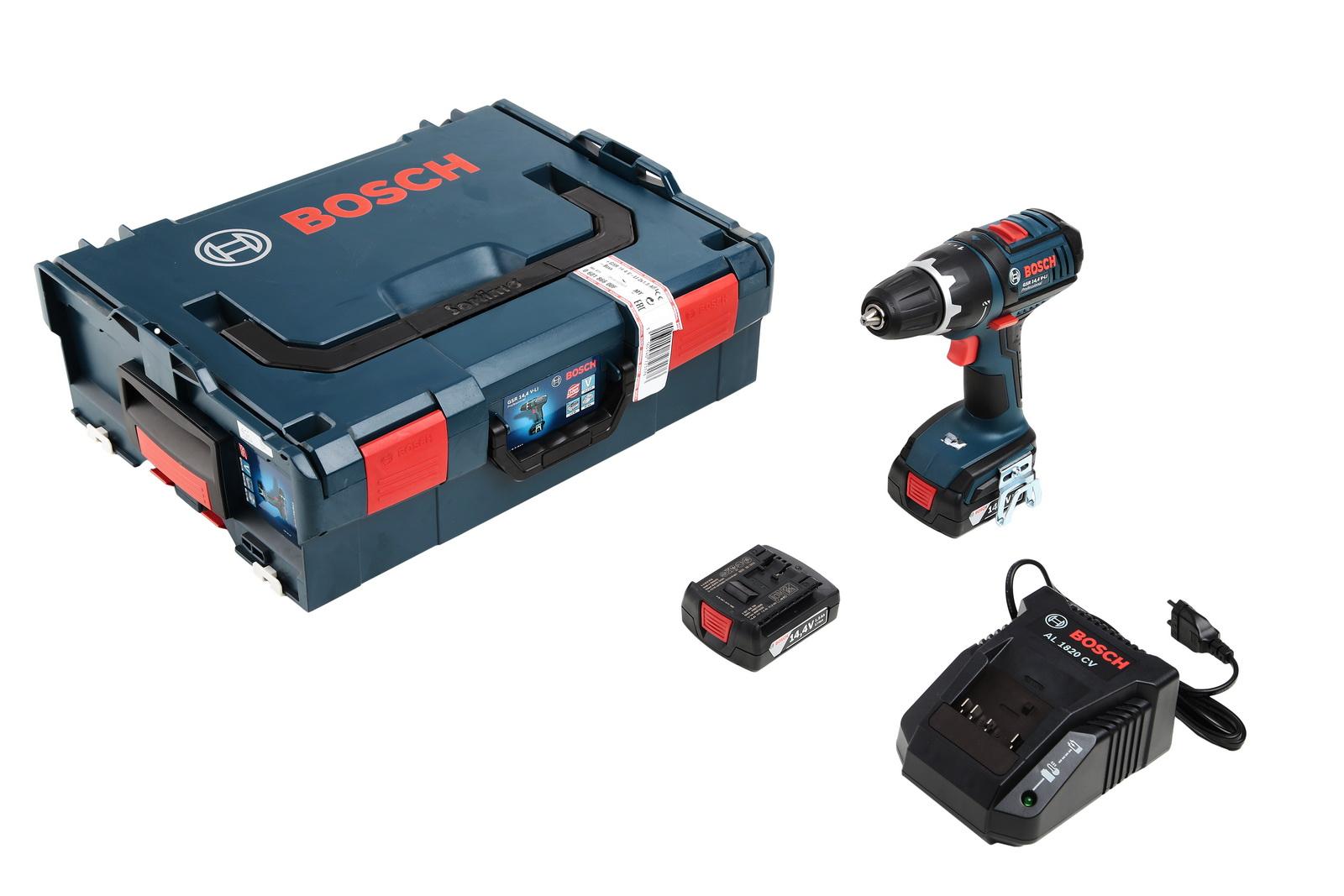 Дрель аккумуляторная Bosch Gsr 14,4 v-li1.5Ач l-boxx (0.601.866.00f)