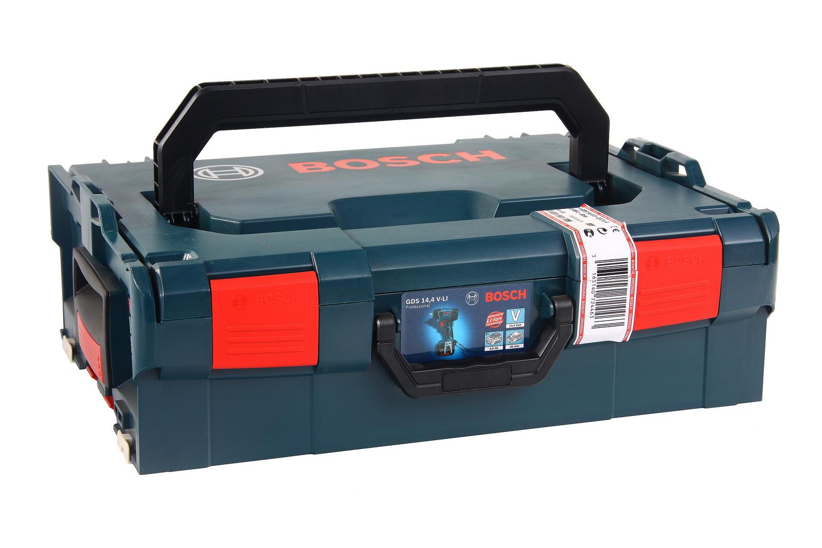 Ударный аккумуляторный гайковерт Bosch Gds 14,4 v-li 4.0Ач (0.601.9a1.t06)