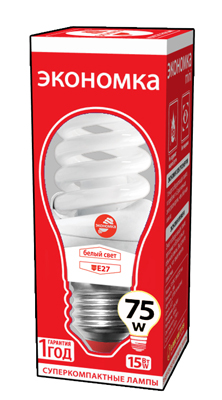 Лампа энергосберегающая ЭКОНОМКА 15Ватт 4200К Е27 Т2 трия гамма т2 15