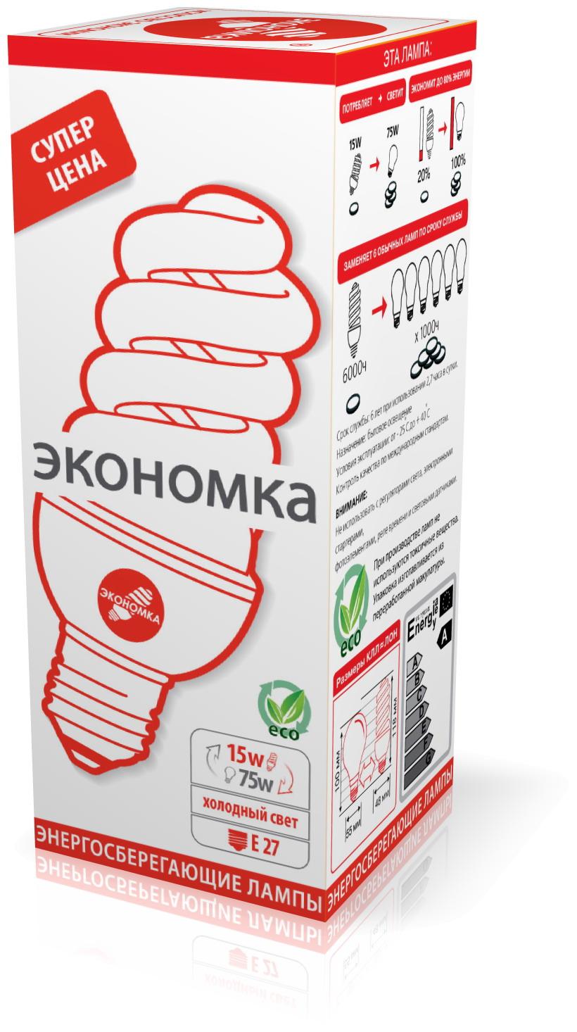 Лампа энергосберегающая ЭКОНОМКА 15Ватт 4200К Е27 Т3 выключатель автоматический legrand tx3 3п c 20а 6ка