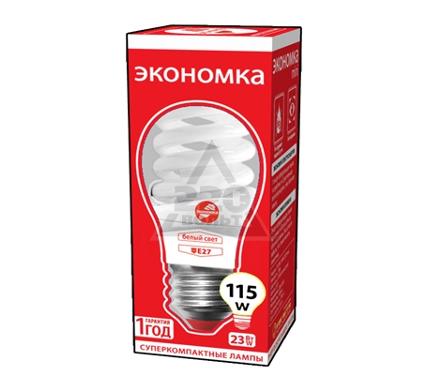Лампа энергосберегающая ЭКОНОМКА 23Ватт 4200К Е27 Т2