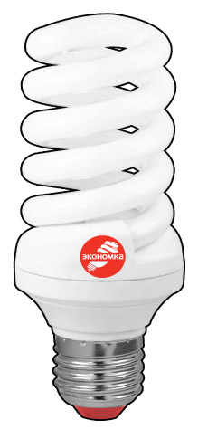 Лампа энергосберегающая ЭКОНОМКА 25Ватт 4200К Е27 Т3