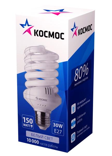 Таблица.  Лампа люминесцентная энергосберегающая 35W (175Вт) Е27 тепл...