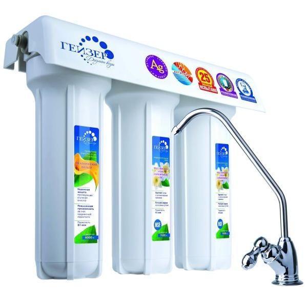 Фильтр для жесткой воды ГЕЙЗЕР 3 ВК Люкс цена и фото