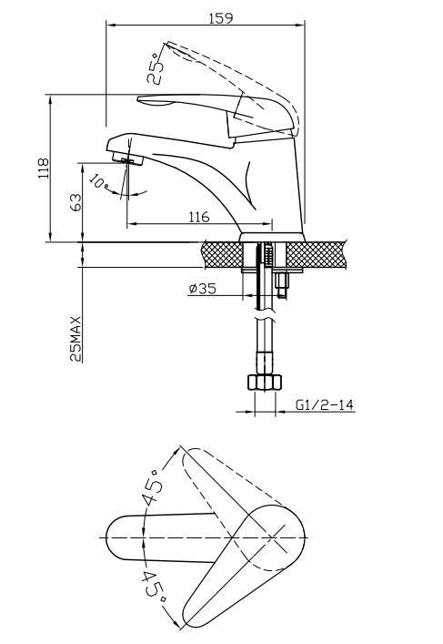 Купить со скидкой Смеситель для раковины Edelform Sepia sp1800