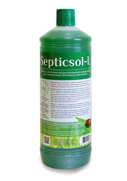 Жидкость Septicsol санитарно-дезодорирующее средство для нижнего бака