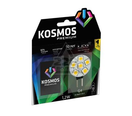 Лампа светодиодная КОСМОС LED 1.2Вт JCR G4 12v  4500K
