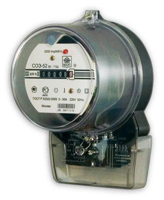 Купить Электросчетчик СОЭ 52/50 - 11Ш однофазные однотарифные по выгодной цене.  Подробная информация о товаре и...