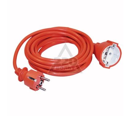 Удлинитель IEK УШ-01РВ 5м 1гнездо с заземлением, ПВС 3*1, шнур оранжевый