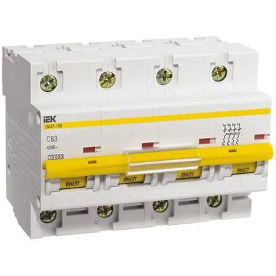 Автомат Iek 4п c/ 32А ВА 47-100 автомат 3p 32а тип c 4 5ка dekraft ba 101