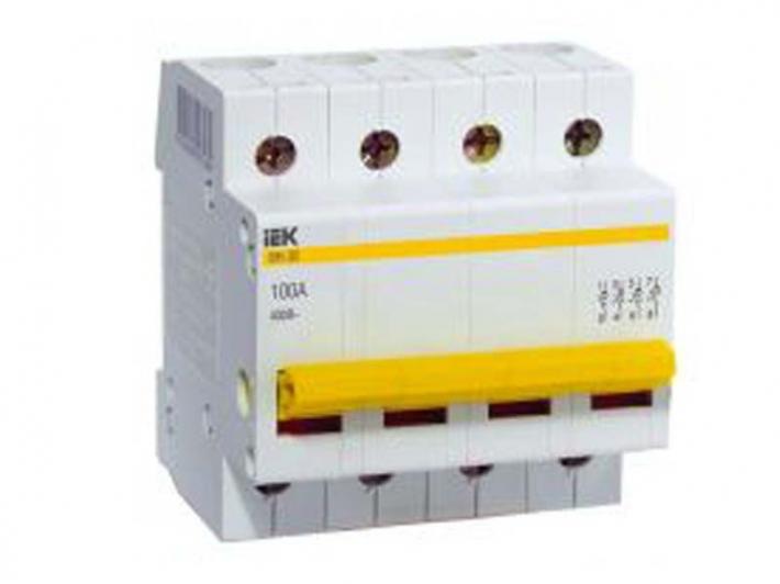 Рубильник Iek ВН 4п 25А  ВН-32 рамка двухместная вертикальная schneider electric glossa белая