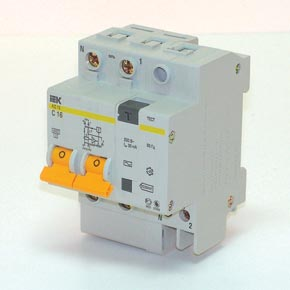 Диф. автомат Iek 2п 10А/30мА  АД-12 выключатель двухклавишный наружный бежевый 10а quteo
