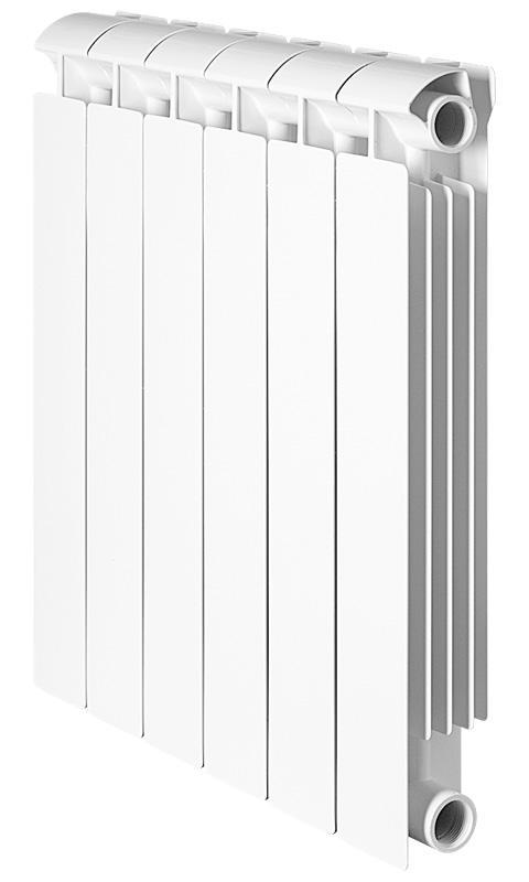 Радиатор биметаллический GlobalРадиаторы водяные<br>Установка: настенная, Подключение: боковое, Количество секций: 8, Тип: водяной, Материал изготовления радиатора: биметаллический, Исполнение: секционное, Межосевое расстояние: 500, Номинальный тепловой поток одной секции при t=70: 1368, Глубина: 80, Ширина: 80, Высота: 565<br>