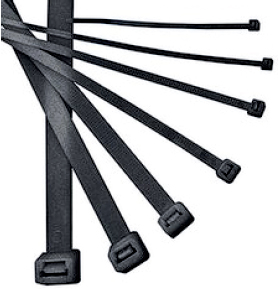 Хомут Iek 4,8х350 мм.  нейлон черные (100шт) мультиметр iek professional my61