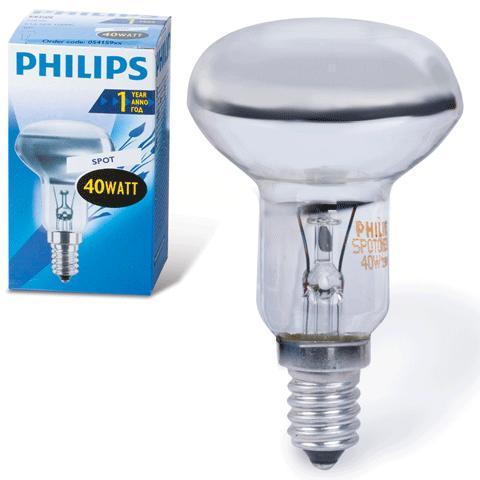 Лампа накаливания Philips Spot nr50 40w e14 30°