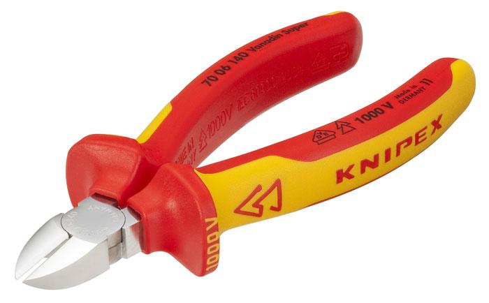 Кусачки Knipex 70 06 140 кусачки усиленные truper 254 мм