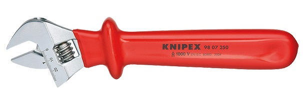 Ключ гаечный разводной Knipex 98 07 250 (0 - 30 мм) ключ гаечный разводной fit 70163 0 30 мм