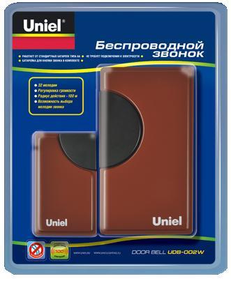 Звонок Uniel Udb-002w-r1t1-32s-100m-rd