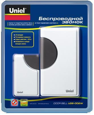 Звонок Uniel Udb-002w-r1t1-32s-100m-wh