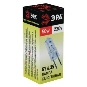 Лампа галогенная ЭРА Gy6.35-jcd-50w-230v