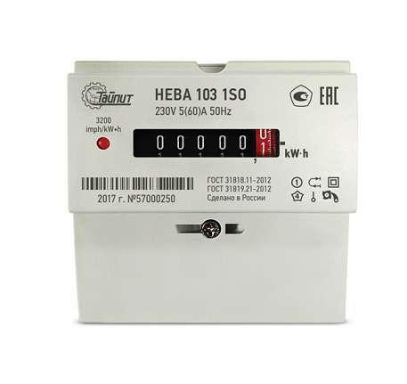 Счетчик электроэнергии ТАЙПИТ НЕВА 103/5 1s0 купить эл счетчики нева 103 в интернете